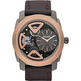 Relógio Fossil Analógico Cinza Com Rose Automático Me1122