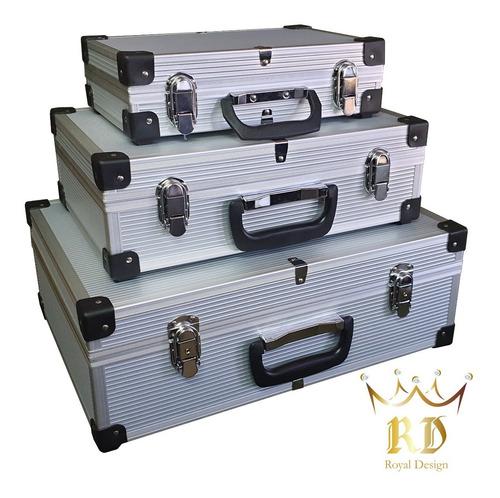 Imagen 1 de 6 de Maletín Aluminio * Reforzado* Caja Porta Herramientas, Maquillaje, Cosméticos, Etc