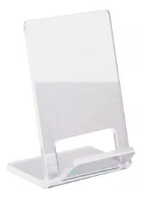 Suporte Expositor De Celular Acrílico Transp. Kit C/10un.