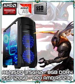 Cpu Pc Gamer A6 9500 Dual Core 3.5ghz 8gb Ddr4 Ssd120b Ga155