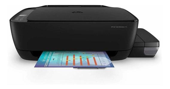 Impressora a cor multifuncional HP Ink Tank Wireless 416 com Wi-Fi 220V preta