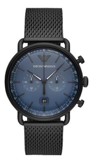 Reloj Análogico Marca Armani Modelo: Ar11201 Color Negro Par