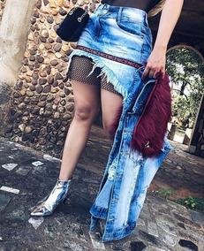 Mini Saia Jeans Curta Barato Verão