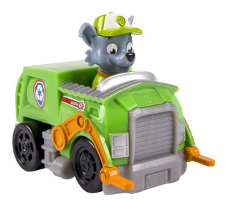 Paw Patrol Patrulla Vehiculo C/ Figura Rocky Original