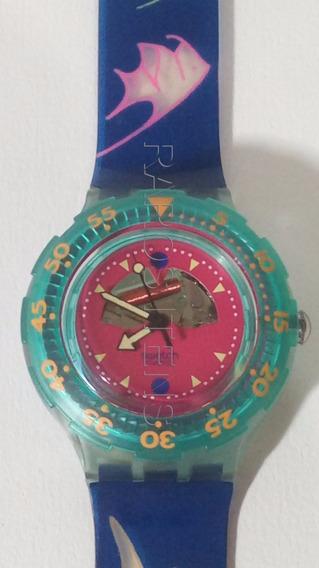Relógio Pulso Swatch Scuba 200 Happy Fish 1990sem Uso Unisex