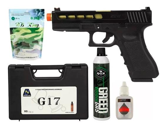 Pistolagbb Double Bell G17 741 + Acessórios