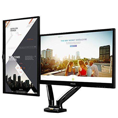 Suporte Para 2 Monitores Com Regulagem Altura F160n F160 ELG