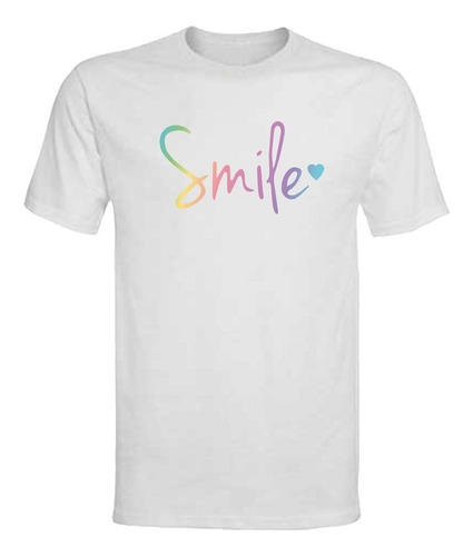Polera Smile - Polo - Niña - Chameleon - Frases - Regalo