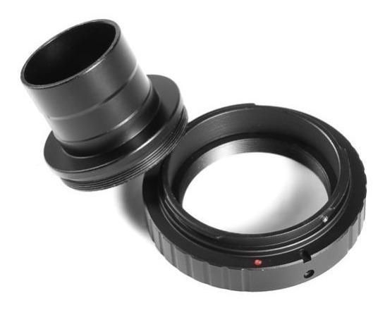 Anel T2 Canon Eos + Tubo Telescópio 1.25 Astrofotografia
