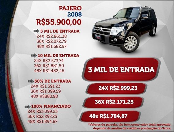 Pajero Full 3.8 V6 4x4 2008/08 Automática 4 Pneus Em 80%