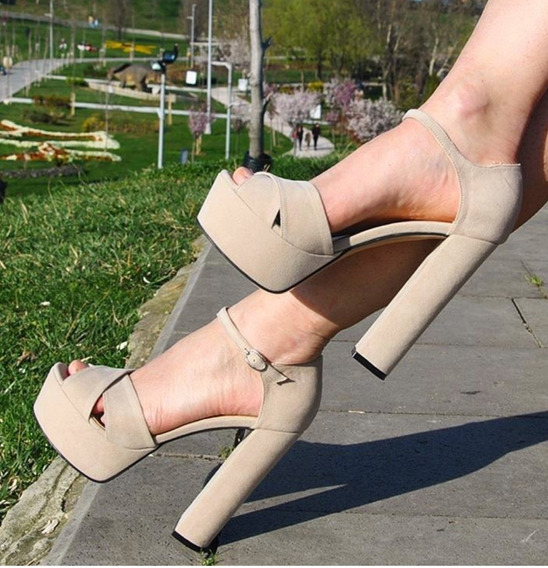 Sandália De Salto Feminina Hm