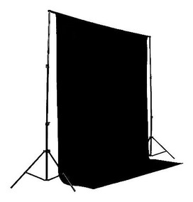 1 Tecido 3x4 Preto Fundo Infinito Estudio Fotografo Foto