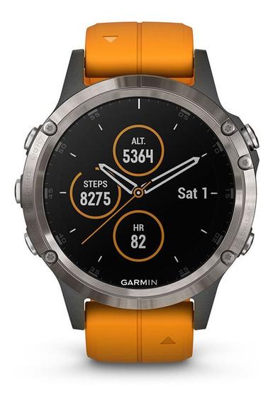 Reloj Smartwatch Garmin Fenix 5 Plus Zafiro Titanio Tienda O