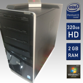 Pc Computador Hp Desktop / Hd 320gb / 2gb Ram / Pentium D