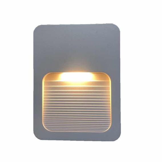 Balizador Parede - Escada Ip65 Led 2w Branco Quente 4x2