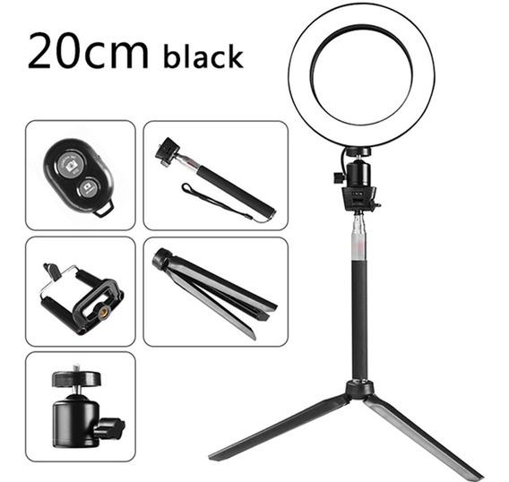 Dc5v 5w 64 Led Anel Luz Rodada Selfie Camera Lamp d20mm
