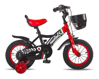 Bicicleta Rod 12 Newton Ferrari Niños Infantil C/ Rueditas