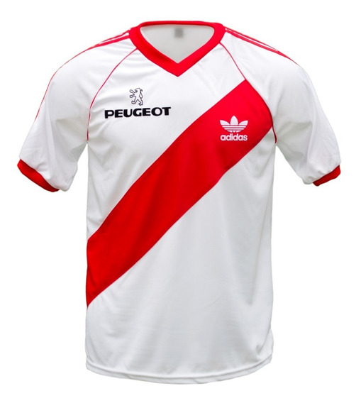 Camiseta River Plate Retro 1989 Peugeot