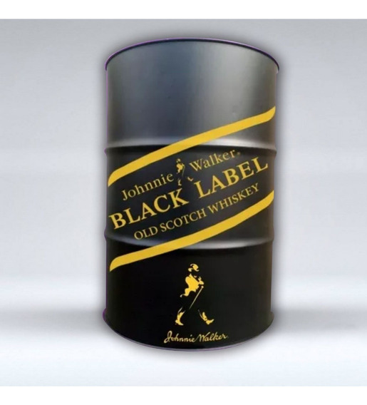 Adesivo Johnnie Walker Black Label Tambor Tonel Barril 200l