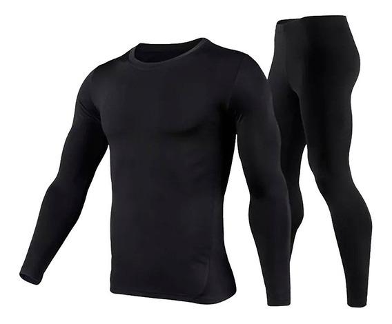 2 Conjuntos Calça + Blusa Térmica Flanelada Inverno Ref 801