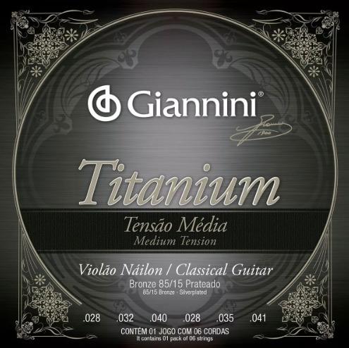 Encordoamento Violão Giannini Nylon Titanium Tensão Media