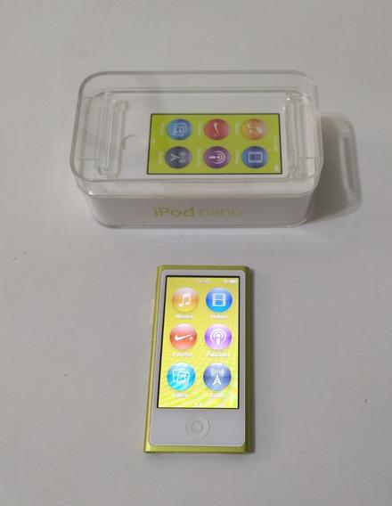 iPod Nano 7 Caixa 16gb Amarelo Rádio Ótimo Parcela - 4f0gn