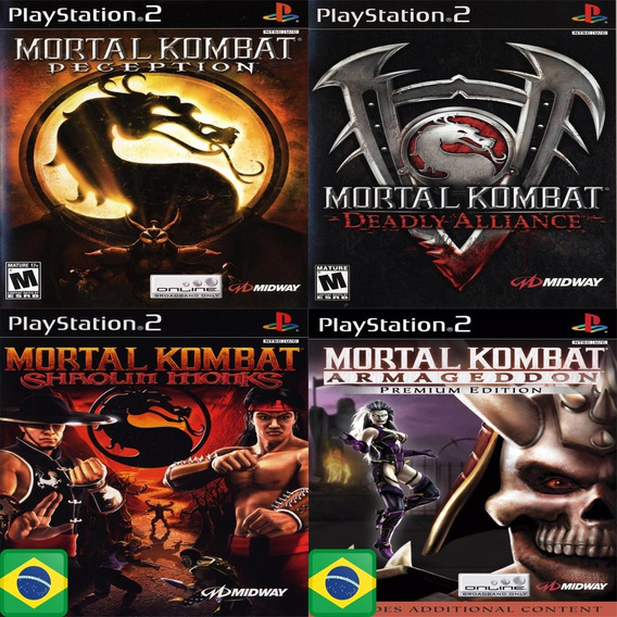 Promoção Coleção 4 Jogos Mortal Kombat Ps2 Patch