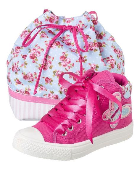 Tênis Com Bolsa Star Kids Jardim Encantado Infantil Fashion