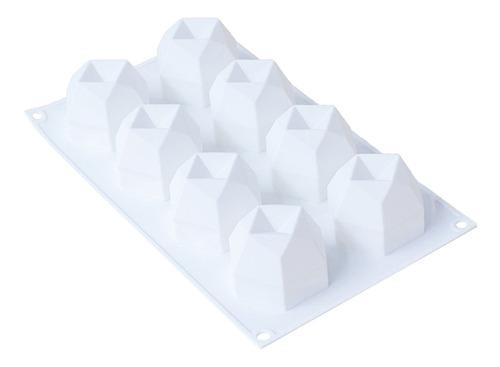 Imagen 1 de 12 de Molde De Silicona Para Velas De 8 Cavidades, Bandeja Para