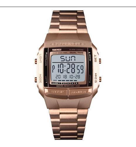 Relógio Masculino Skmei 1381, Á Prova Dagua, Luz Led,