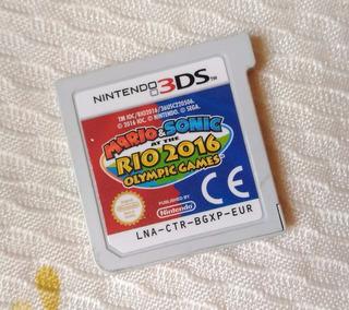 Mario & Sonic Rio 2016 Olympic Games Nintendo 3ds