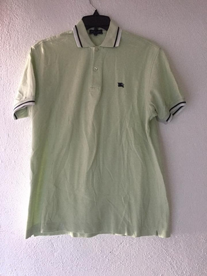Polo Burberry Talla M Color Verde Claro