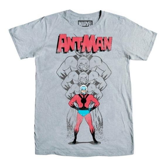 Playera Hombre Ant-man Retro Marvel Máscara De Látex