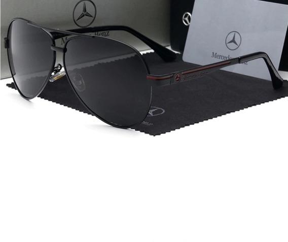 Óculos De Sol Masculino Polarizado Mercedes Benz 737 Uv400