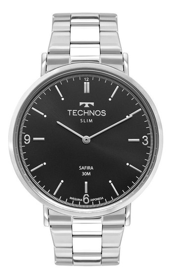 Relógio Technos Masculino Slim Prata 2025ltn1p