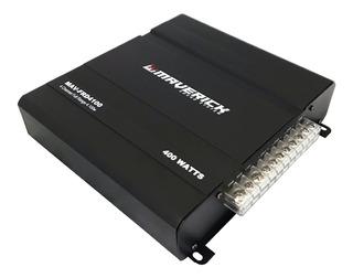 Potencia 400w Max Amplificador 4 Canales Puenteable Maverick