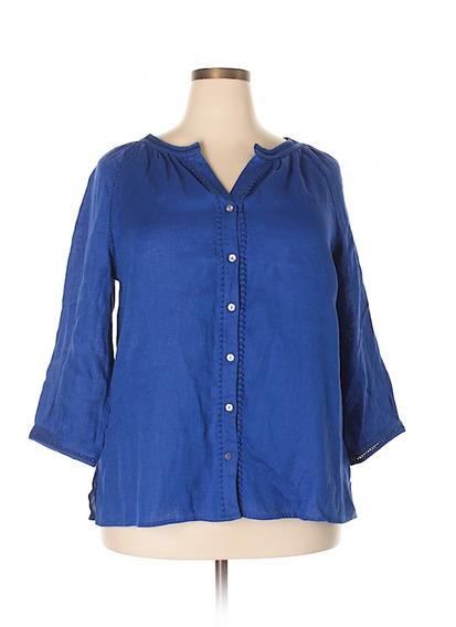 Camisa Charter Club Mujeres Talla 1xl 100% Lino