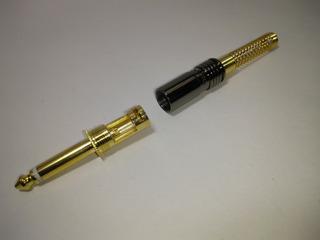 Plug P10 Mono Maciço Oct Gold Kit 10 Pçs Promo Bf