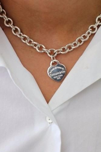 c0c86097c134 Collar Gargantilla Tiffany En Plata Con Dije Corazon -   3.800