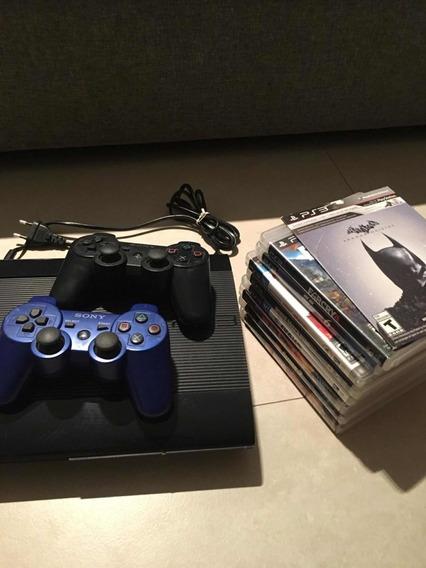 Playstation Ps3 Original +manetes +jogos