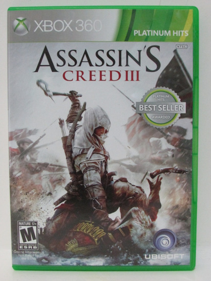 Assassin´s Creed 3 - Xbox 360 Completo Original Mídia Física