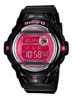 Reloj Casio Mujer Bg-169r-1b Negro-rosa Agente Oficial Caba