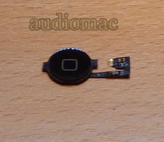 Flex Botón De Inicio O Home iPhone 4g + Acrilico Negro