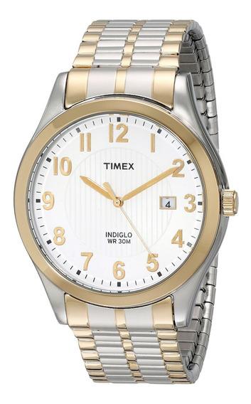 Timex Hombre Woodcrest T2n8519j Reloj Correa Tono Dual 38mm