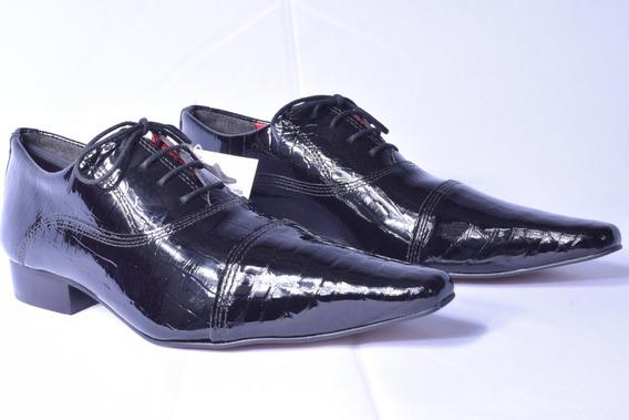 Sapatos Social Masculino De Couro Bico Fino Luxo Sem Juros