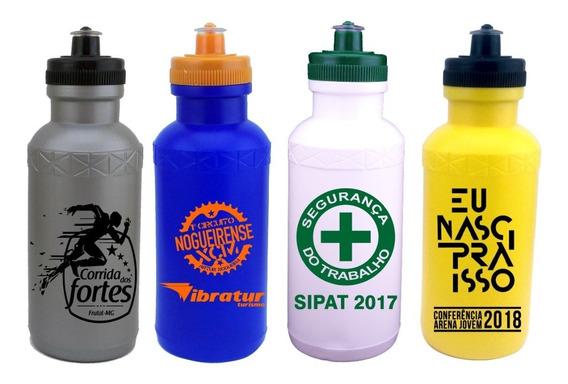 100 Squeeze Plastico 500ml Personalizado Em 1 Cor - Fitness