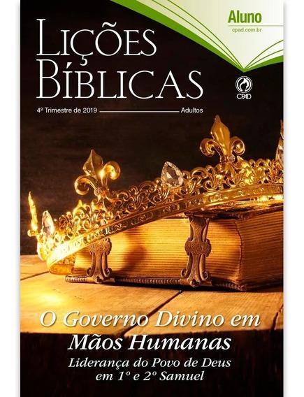 Revista Lições Bíblicas Aluno 4º Trimestre 2019 Kit Com 100