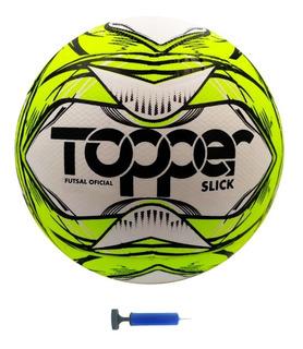 Bola Futsal Oficial Topper Slick Ii + Bomba De Ar