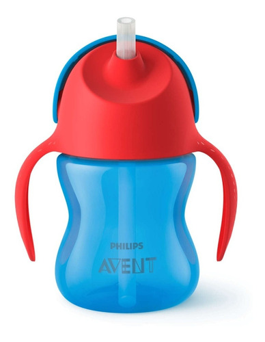 Vaso Avent Philips Straw Cup Antifuga 200ml 9m+ Azul Nnet