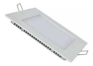 Panel Led Plafon 6w Cuadrado Embutir Luz Calido Frio Neutro